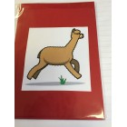 Alpaca Greeting Cards - Comical Camelid Pronking